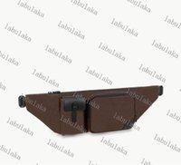 M45337 Cinto Bumbag Clássico Desenhador De Lona Genunie Couro Cruz-corpo Cowhide Christopher Bag Ombro Homens Homens Bolsas De Cintura BuCut