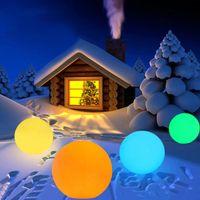 Lámparas de césped THRISDAR recargable RGB Color Ball Ball Luz de noche con remoto IP65 Aire Libre Piscina a prueba de agua Decoración flotante Orb