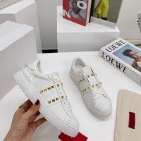 Высочайшее качество Мужчины Женщины Удобные Платье Обувь Повседневная Белая Черная Мода Мужская Женская Натуральная Кожа Открытый Обувь Кроссовки
