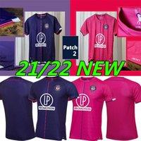 21/22 Toulouse Maillot de Foot Soccer Jerseys Hem Away Bule Red 2021 2022 Rhys Healey Anriste Deyaegere Amian Moreira Men Kit Kids Football Uniforms