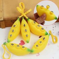 Banana Squeeze Keychain Finger Stress Relief Decompression Toy Vent Anxiety Toys Puzzle Children Adult Gift