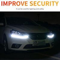Emergency Lights 2pcs Led Car DRL Daytime Running Flexbile Waterproof 12V Auto Headlight Turn Signal Yellow Flow Driving Day Light Strip