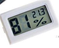 جديد أسود / أبيض صغير الرقمية LCD بيئة ميزان الحرارة الرطوبة الرطوبة درجة حرارة متر في الغرفة الثلاجة icebox ahd5661