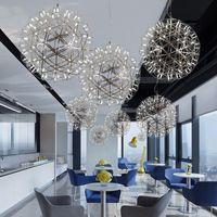 İskandinav led kolye lamba yaratıcı restoran spark topu merdiven havai fişek yıldızlı modern oturma odası yatak odası avize ışık