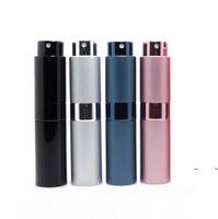 7 colori Spray Bottiglia in metallo alluminio portatile ricaricabile profumo per profumo barattolo cosmetico contenitore vuoto atomizzatore da viaggio rivestimento vetro contenitori fwe7849