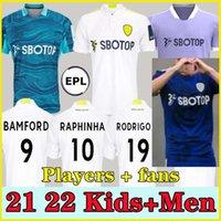 المشجعين لاعب Leeds Soccer Jersey United 21 22 Hernandez Poveda Bamford Alioski T.Roberts Raphinha Rodrigo M Llorente R 2021 2022 الرجال الاطفال عدة كرة القدم قميص الزي الرسمي