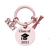 Lisansüstü Anahtarlık Sınıf 2021 Okul Üniversitesi Öğrenci Mezuniyet Hediye Paslanmaz Çelik Anahtarlık Kaydırma Takı Anahtarlık HWF5844 ile