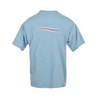 Onda de manga corta Ola Casual Camiseta Color Sólido Color suelto Top Moda Cuello redondo Cuello de seis colores Pareja de algodón traje 2021