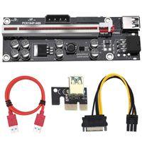 Computer Cables & Connectors Pcs VER009S Plus PCI-E PCIE Riser 009s 6pin PCI Express Adapter Card Molex USB 3.0 Cable 1X 16X Extender
