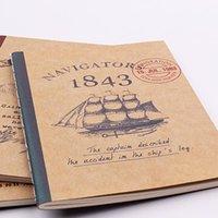 Notepads 1 ADET B7 Kraft Kağıt Kapak Küçük Dizüstü Bilgisayarlar 32 Sayfalar Cep Dizüstü Taşınabilir Dergisi Günlüğü Kitap Kırtasiye Malzemeleri (SS-1771)