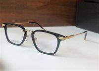 Design vintage Eyewear 8129 Occhiali ottici Piatti quadrati Piastra in titanio Telaio leggero e comodo stile semplice di alta qualità con la scatola può fare lenti da prescrizione