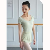 Short-sleeved Gymnastics Suit Adult Ballerina Dress Girls Ballet Leotards For Women Dance Wear CN(Origin) Stage