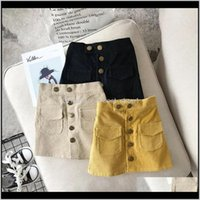 Ins стильные дети tutu сплошной кнопки юбка весна осень детская одежда хлопчатобумажная коршера малыша ребёнок 2r9v9 gvnqf