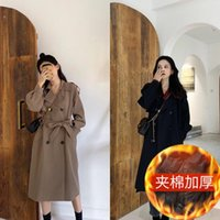 Women's Wool & Blends Jacket Women Coat Trench For British Style Autumn And Winter Veste Manteau Femme