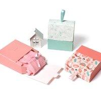 Folding Creative Gift Små lådor Läppstift Förpackning Väskor Födelsedag Bridesmaid Bride Hand Ins Christmas Nyår Kartong Papper Smycken Box