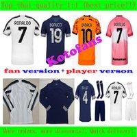 Top Thaïlandais Quaiity Juve Soccer Jerseys Ronaldo Dyala Morata Chiesa McKennie Chemise de football 20 21 Hommes + Kit Kit Kit Personnaliser Nom Nom