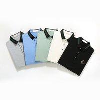 Polo di coccodrillo di alta qualità Uomo Pantaloncini in cotone di lavaggio solido Estate Homme T-Shirts Mens Polos Camicie Poloshirt
