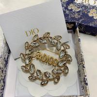 편지 다이아몬드 편지 머리핀 높은 버전 황동 워터 드롭 크리스탈