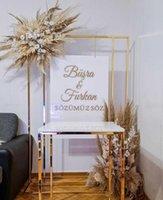 Party Decoration Luxury Iron Billboard Stand Advertising Rack Wedding Welcome Flower Arch Birthday Balloon Holder Dessert Cake Plinth Table