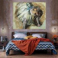 Dançarino ajustando sua decoração da casa decoração enorme pintura a óleo em canvas handcrafts / hd impressão de arte de parede personalização é aceitável 21053109