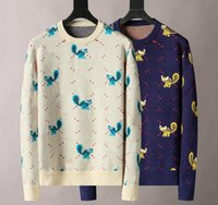 21SS 남성 여성 디자이너 스웨터 패션 편지 풀오버 남자 까마귀 스웨터 활성 후드 스웨터 자수 니트웨어 겨울 옷
