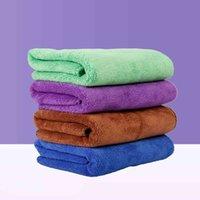 Toalla de perro de fibra Secado rápido de secado Moda Toallas de baño de limpieza Suministros para mascotas 40 * 60 cm HHC6738 QMYH