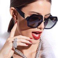 Moda Ins Stylowy Luksusowy Projektant Wielokąt Inversized Square Chic Okulary przeciwsłoneczne dla kobiet Damskie Kobiety 6 Kolory