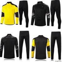 20 21 Borussia Maniche lunghe Soccer Training Suit Suite Suite 2020 2021 Dortmund Sancho Haaland Reus Maillot de Football Giacca Tuta