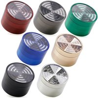 TOP Window Signal Shape Tobacco Crushers crafts Grinders Metal 4 Pieces 63mm Zinc Alloy Herb Grinder Smoking Accessories A1988 20pcs 1951 Y2