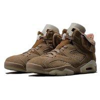air Jordan moda Travis Scotts x Jumpman 6 İngiliz Haki erkek basketbol ayakkabıları Kaktüs Jack Yelken 6s Parlak Kızıl erkekler eğitmenler spor ayakkabı kutusu ile
