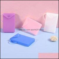 Storage Housekee Organization Home & Gardenstorage Bags Portable Dustproof Mask Case Disposable Face Masks Container Safe Pollution- Box Bag