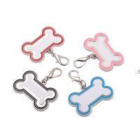 Sublimação em branco Aço Inoxidável Tag Keyring Colar Colar Pingente Térmico Transferência Térmica Impressão Pet Cartão Pet de Metal Liso HWB9481