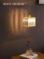 펜던트 램프 Moonshadow 조명 현대 크리스탈 LED 전체 황동 노르딕 거실 침실 장식 산업용 램프 220V