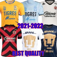 2021 2022 Naul Tigres Soccer Jerseys Gignac 20 21 22 Home Away Troisième 7 étoiles Vargas Coupe du Monde Monterrey Camiseta de futbol Unam Liga MX Top The The Thailand Football Shirts