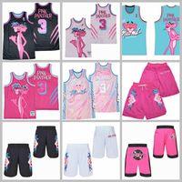 Movie TV Basketball 3 Miami Pink Panther Jersey Vice Marmor Black White Shorts trägt limitierte Edition Guter Qualität Mann