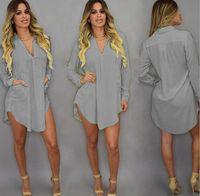 2021Casual Dress Plus Size Summer Sexy V Neck Short Beach Dress Chiffon White Mini Loose Women Clothing