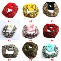 Sciarpa in cotone cc Sciarpa calda inverno per la donna moda leopardo stampato sciarpa con grembiuli in occasione all'ingrosso