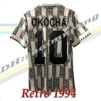 레트로 1994 Okocha # 10 축구 유니폼 컵 최종 홈 남자 결승 빈티지 축구 셔츠 키트 클래식 유니폼