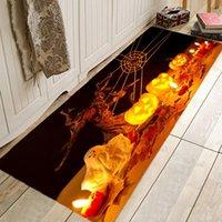 Carpets Halloween Pattern Bathroom Absorbent Pad Creative Carpet Coral Fleece Kitchen Living Room Floor Mat Design