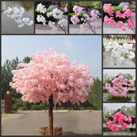 Long Artificial Silk Flower Garland Hanging Fake Flowers Rattan Faux Cherry Blossom Vine Wreath For Party Wedding Decor Decorative & Wreaths