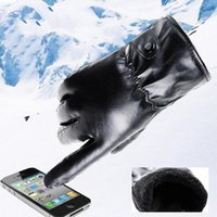 Five Fingers Gloves Mens Luxurious Black Leather Winter Super Driving Warm Cashmere Simple Business Style Luvas De Couro Masculino
