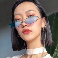 Novo Estilo Duplo Beam Sunglasses Tendência Personalidade Irregular óculos Moda Metal Sunglasses Gafas de Sol