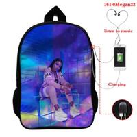 حقيبة الظهر mochila feminina bookbag ميغان اليك الفحل للنساء حقائب مدرسية المراهقين USB تهمة السفر رجالي