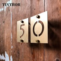 Height: 65mm 2.55'' Brass Figures Wall Decoration Golden Door Sign Plates Square Villa El House Number Dormitory Home 0-9 Other Hardware