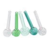 QBSOMK 10 cm moins cher Coloré Pyrex Glass Huile de brûleur de brûleur de verre tube tube tabagisme Tuyaux de tabagisme Tobcco Herb Glass Huile Oil Nails 396 R2