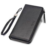 Purse Wallet Men's Long Zipper Bag Leather Carteira Masculina