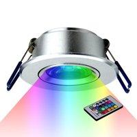 Downlights LED lâmpada de teto para baixo luzes 3w RGB com lâmpadas recessedas remotas AC220V Downlight festa de aniversário colorido