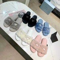 Luxurys designers femmes pantoufles laine glissière fourrure hiver move movatron de force sandales chaudes confortables glissades fluzzy fille flip pantoufle