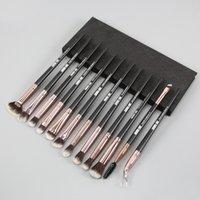 Compõem Escovas 12 Pcs Profissional Misturando Eyeshadow Sobrancelha Escova para Maquiagem Beleza Lip Gloss Foundation