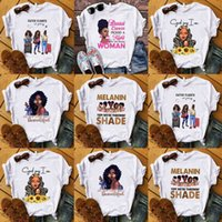 Womens Summer Designers T shirt Classic White Sweat Tee Sports Casual Tee Tops African Women Cartoon Image Printed Outfit Top Sweat Shirt Boutique G73K1Y8
